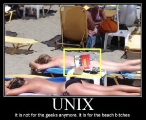 Unix Girls on the Beach
