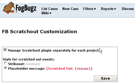 New Feature: Customizable Scratch-out display format