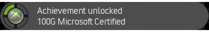 Microsoft Certified XBOX 360 Acheivement